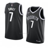 Camiseta Brooklyn Nets Nuni Omot #7 Icon 2018 Negro