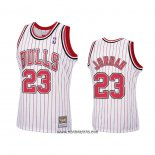 Camiseta Chicago Bulls Michael Jordan #23 Reload Hardwood Classics Blanco