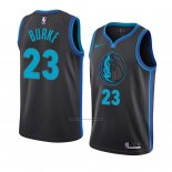 Camiseta Dallas Mavericks Trey Burke #23 Ciudad 2018-19 Azul