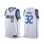 Camiseta Dallas Mavericks Trey Burke #32 Association 2020 Blanco
