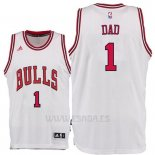 Camiseta Dia del Padre Chicago Bulls DAD #1 Blanco
