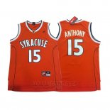Camiseta NCAA Syracuse Orange Carmelo Anthony #15 Naranja