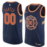 Camiseta New York Knicks Enes Kanter #00 Ciudad 2018 Azul
