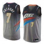 Camiseta Oklahoma City Thunder Carmelo Anthony #7 Ciudad 2018 Gris