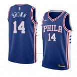 Camiseta Philadelphia 76ers Anthony Marron #14 Icon 2018 Azul