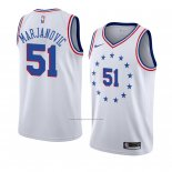 Camiseta Philadelphia 76ers Boban Marjanovic #51 Earned 2018-19 Blanco