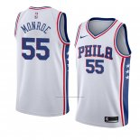 Camiseta Philadelphia 76ers Greg Monroe #55 Association 2018 Blanco