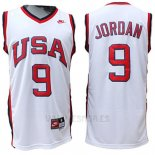 Camiseta USA 1984 Michael Jordan #9 Blanco