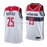 Camiseta Washington Wizards Austin Rivers #25 Association 2018 Blanco