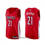 Camiseta Washington Wizards Moritz Wagner #21 Earned Rojo