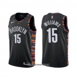 Camiseta Brooklyn Nets Alan Williams #15 Ciudad Negro