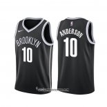 Camiseta Brooklyn Nets Justin Anderson #10 Icon Negro