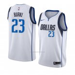 Camiseta Dallas Mavericks Trey Burke #23 Association 2018-19 Blanco