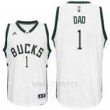 Camiseta Dia del Padre Milwaukee Bucks DAD #1 Blanco
