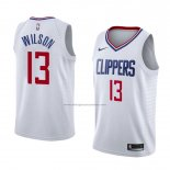 Camiseta Los Angeles Clippers Jamil Wilson #13 Association 2018 Blanco