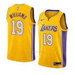 Camiseta Los Angeles Lakers Johnathan Williams #19 Icon 2018 Oro