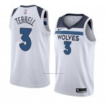 Camiseta Minnesota Timberwolves Jarojo Terrell #3 Association 2018 Blanco