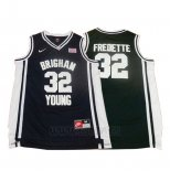 Camiseta NCAA Brigham Young University Jimmer Fredette #32 Negro