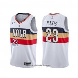 Camiseta New Orleans Pelicans Anthony Davis #23 Earned Blanco