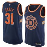 Camiseta New York Knicks Ron Baker #31 Ciudad 2018 Azul