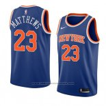 Camiseta New York Knicks Wesley Matthews #23 Icon 2018 Azul