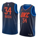 Camiseta Oklahoma City Thunder Josh Huestis #34 Statement 2018 Azul