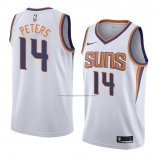 Camiseta Phoenix Suns Alec Peters #14 Association 2018 Blanco2