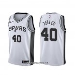 Camiseta San Antonio Spurs Tyler Zeller #40 Association Blanco