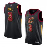 Camiseta Cleveland Cavaliers George Hill #3 Statement 2018 Negro