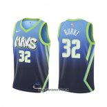 Camiseta Dallas Mavericks Trey Burke #32 Ciudad 2020 Azul