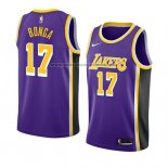 Camiseta Los Angeles Lakers Isaac Bongajersey #17 Statement 2018 Violeta