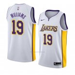 Camiseta Los Angeles Lakers Johnathan Williams #19 Association 2018 Blanco