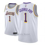 Camiseta Los Angeles Lakers Kentavious Caldwell Pope #1 Association 2018-19 Blanco