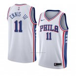 Camiseta Philadelphia 76ers James Ennis Iii #11 Association 2018 Blanco
