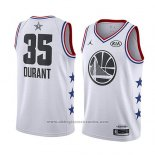Camiseta All Star 2019 Golden State Warriors Kevin Durant #35 Blanco