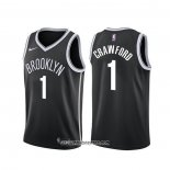 Camiseta Brooklyn Nets Jamal Crawford #1 Icon Negro