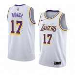 Camiseta Los Angeles Lakers Isaac Bonga #17 Association 2018-19 Blanco