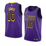 Camiseta Los Angeles Lakers Jemerrio Jones #10 Ciudad 2018-19 Violeta