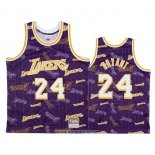 Camiseta Los Angeles Lakers Kobe Bryant #24 Hardwood Classics Tear Up Pack Violeta