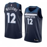 Camiseta Minnesota Timberwolves C. J. Williams #12 Icon 2018 Azul