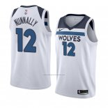 Camiseta Minnesota Timberwolves James Nunnally #12 Association 2018 Blanco