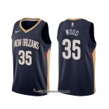 Camiseta New Orleans Pelicans Christian Wood #35 Icon Azul