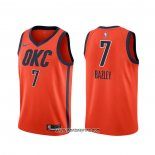 Camiseta Oklahoma City Thunder Darius Bazley #7 Earned Naranja