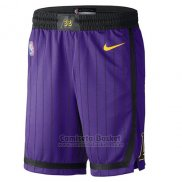 Pantalone Los Angeles Lakers Ciudad 2018-19 Violeta