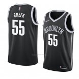 Camiseta Brooklyn Nets Mitch Creek #55 Icon 2018 Negro