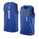 Camiseta Dallas Mavericks Courtney Lee #1 Icon 2018 Azul