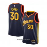 Camiseta Golden State Warriors Stephen Curry #30 Ciudad 2020-21 Blanco