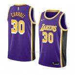 Camiseta Los Angeles Lakers Jeffrey Carroll #30 Statement 2018-19 Violeta
