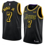 Camiseta Los Angeles Lakers Larry Nance Jr. #7 Ciudad 2018 Negro