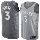 Camiseta Minnesota Timberwolves Anthony Marron #3 Ciudad 2018 Gris